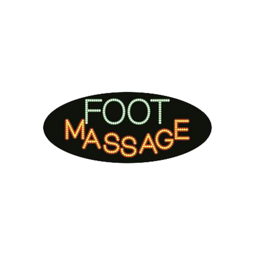 "Cre8tion LED Signs ""Foot Massage #1"", F#0401, 23020 KK BB"