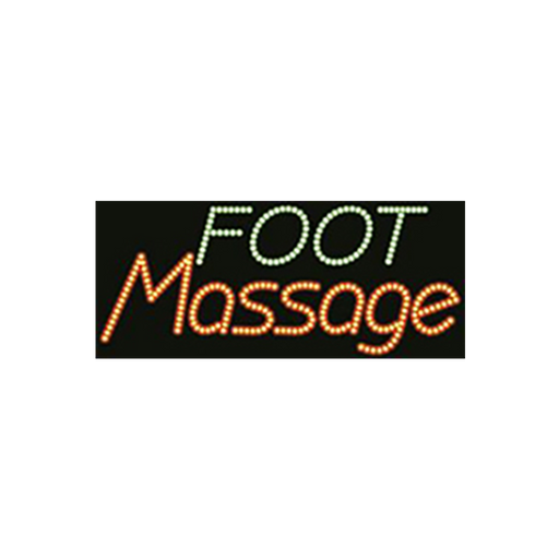 "Cre8tion LED Signs ""Foot Massage #2"", F#0402, 23021 KK BB"