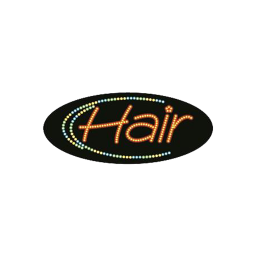 "Cre8tion LED Signs ""Hair #3"", H#0104, 23024 KK BB"