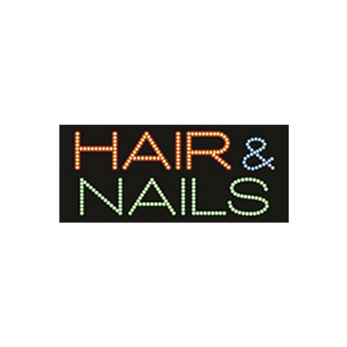 "Cre8tion LED Signs ""Hair & Nail #1"", H#0201, 23025 KK BB"
