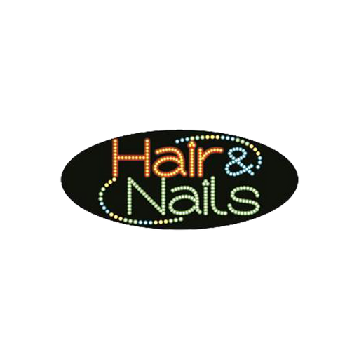 "Cre8tion LED Signs ""Hair & Nail #2"", H#0202, 23026 KK BB"