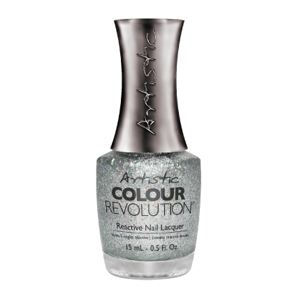 Artistic Colour Revolution, 2303031, Dazzled, Silver Holographic Glitter, 0.5oz