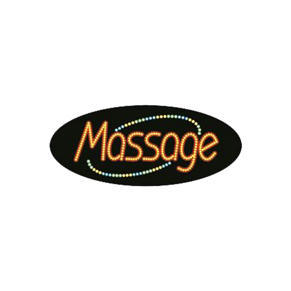 "Cre8tion LED Signs ""Massage #2"", M#0102, 23031 KK BB"