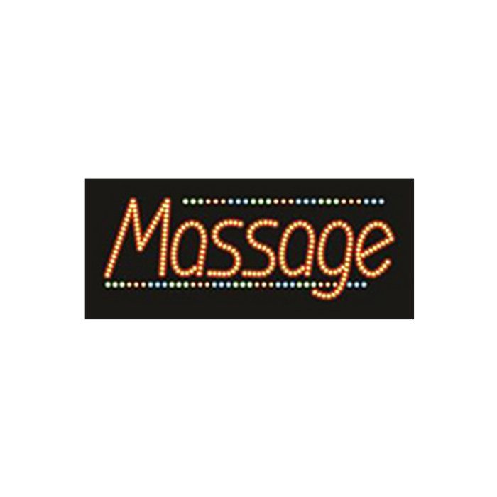 "Cre8tion LED Signs ""Massage #3"", M#0103, 23032 KK BB"
