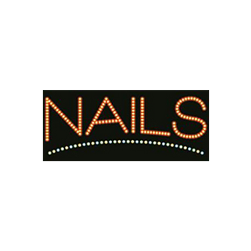 "Cre8tion LED Signs ""Nails #3"", N#0104, 23035 KK BB"