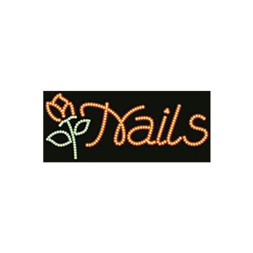 "Cre8tion LED Signs ""Nails #4"", N#0105, 23036 KK BB"