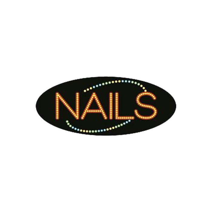 "Cre8tion LED Signs ""Nails #5"", N#0108, 23037 KK BB"
