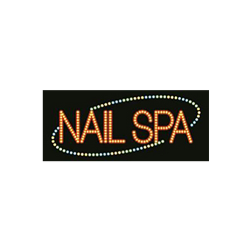 "Cre8tion LED signs ""Nails Spa"", N#0204, 23038 KK BB"