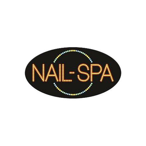 "Cre8tion LED signs ""Nails-Spa #1"", N#0207, 23039 KK BB"