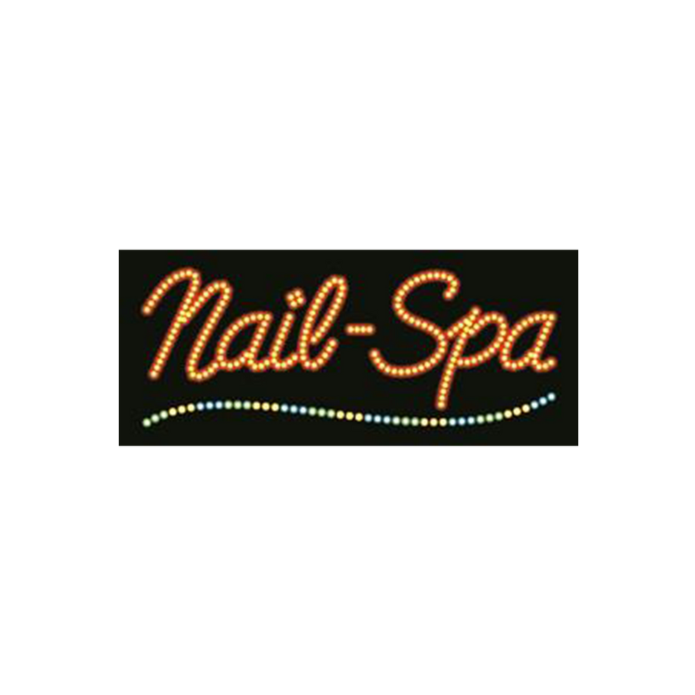 "Cre8tion LED signs ""Nails-Spa #3"", N#0205, 23041 KK BB"