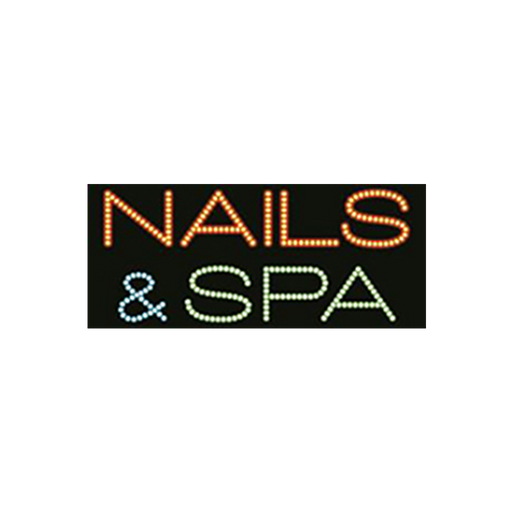 "Cre8tion LED Signs ""Nails & Spa #1"", N#0201, 23042 KK BB"