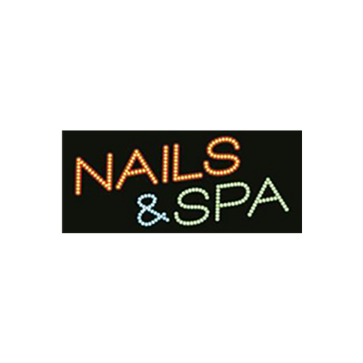 "Cre8tion LED Signs ""Nails & Spa #2"", N#0203, 23043 KK BB"