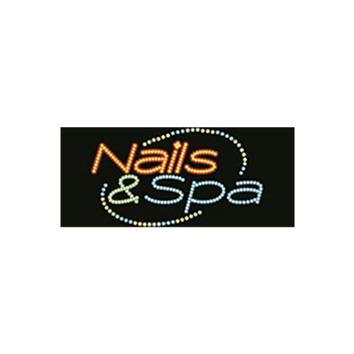 "Cre8tion LED signs ""Nails & Spa #3"", 23044 KK BB"