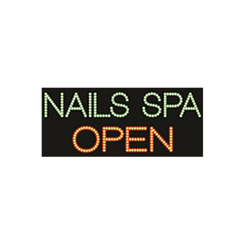 "Cre8tion LED Signs ""Nail Spa Open"", N#0404, 23045 KK BB"