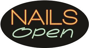 "Cre8tion LED Signs ""Nail Open #1"", N#0209, 23046 KK BB"