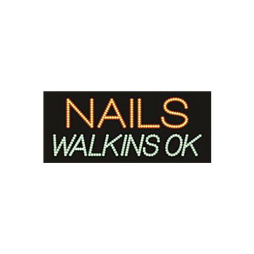 "Cre8tion LED Signs ""Nail Walking Ok"", N#0501, 23049 KK BB"