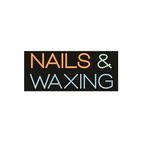 "Cre8tion LED Signs ""Nail & Waxing #1"", N#0702, 23051 KK BB"
