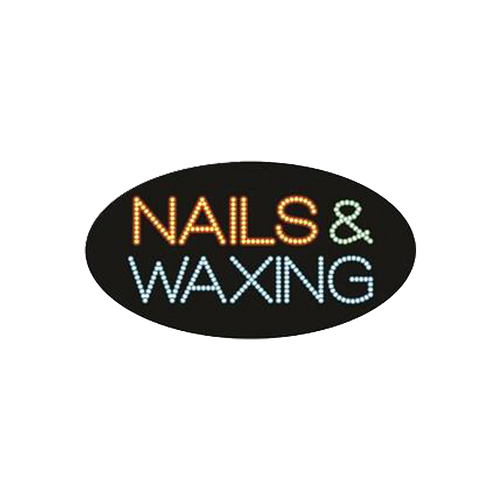 "Cre8tion LED Signs ""Nail & Waxing #2"", N#0703, 23052 KK BB"