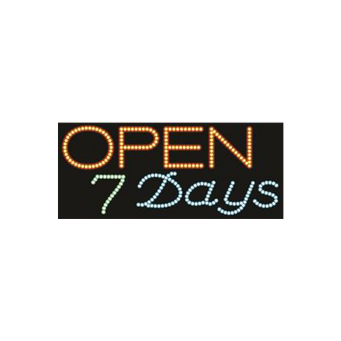 "Cre8tion LED signs ""Open 7 Days #1"", O#0201, 23063 KK BB"