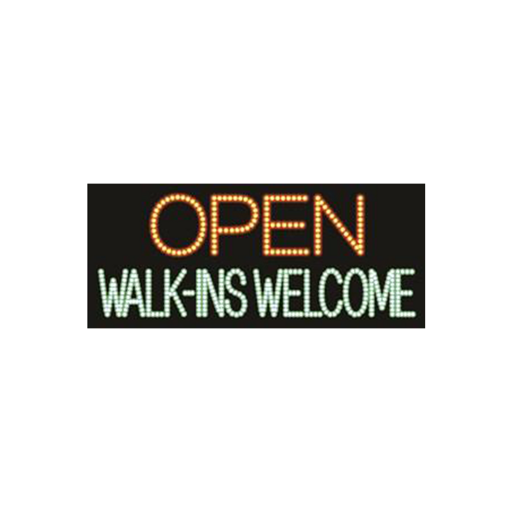 "Cre8tion LED signs ""Open Walk-Ins Welcome"", O#0501, 23068 KK BB"
