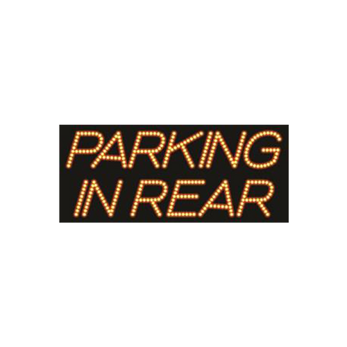 "Cre8tion LED signs ""Parking In Rear"", P#0101, 23069 KK BB"
