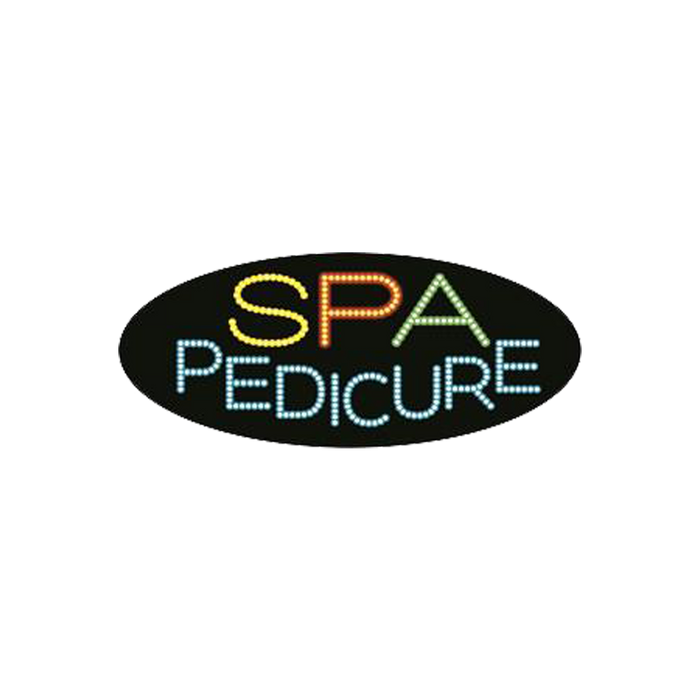 "Cre8tion LED signs ""Spa Pedicure #3"", S#0405, 23079 KK BB"