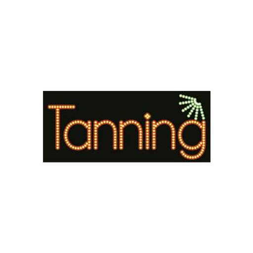 "Cre8tion LED signs ""Tanning #2"", T#0103, 23081 KK BB"