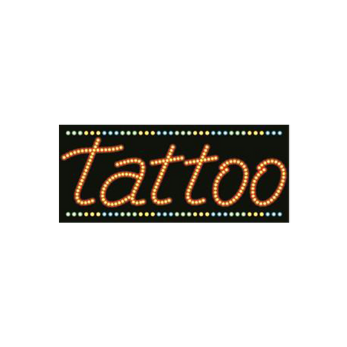"Cre8tion LED signs ""Tattoo"", T#0201, 23082 KK BB"