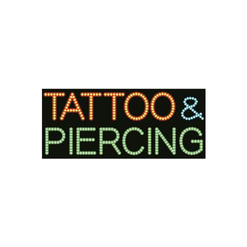"Cre8tion LED signs ""Tattoo & Piercing"", T#0301, 23083 KK BB"