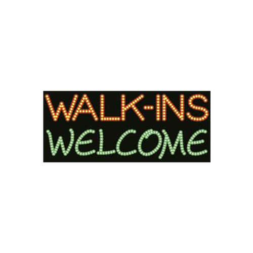 "Cre8tion LED signs ""Walk-Ins Welcome"", W#0101, 23084 KK BB"