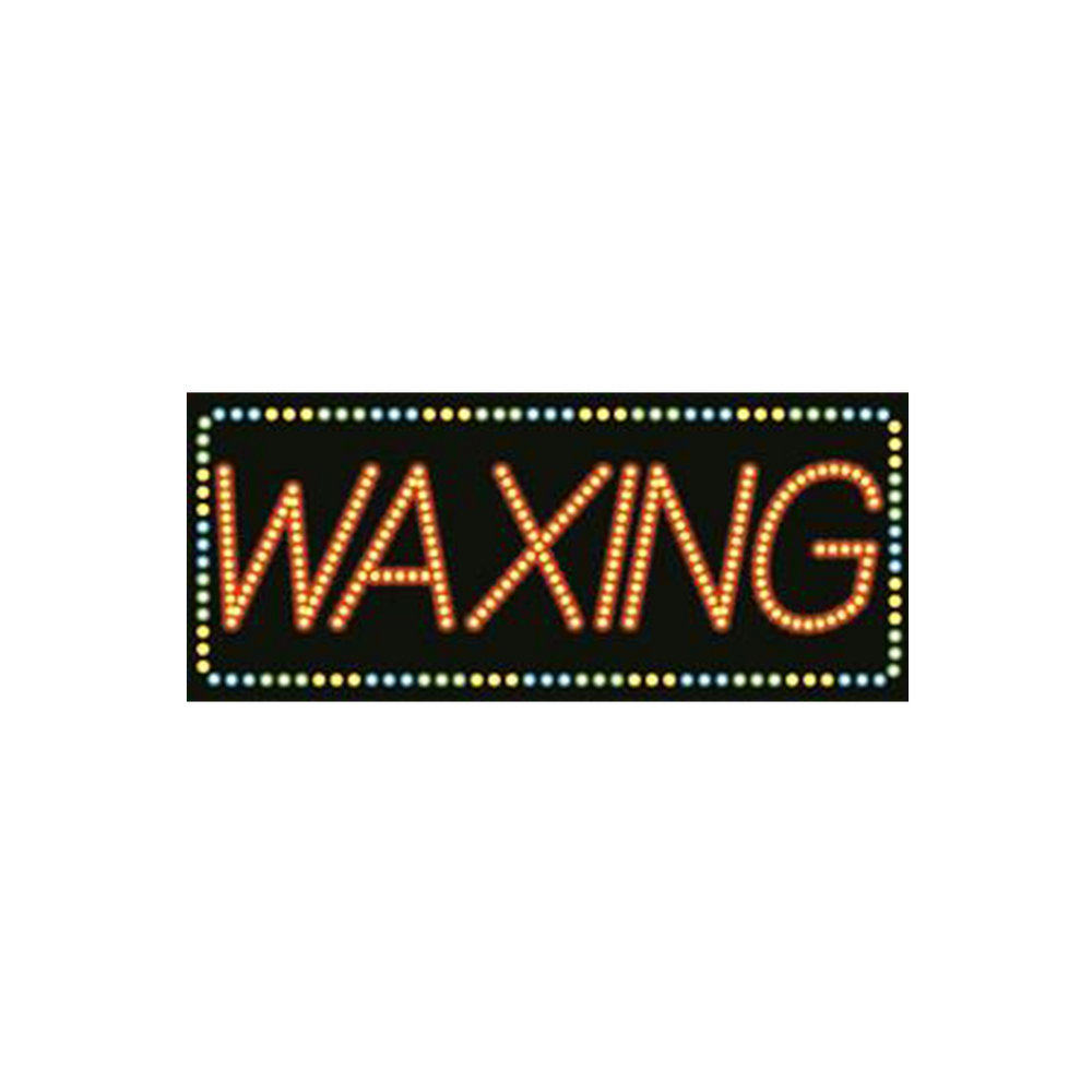 "Cre8tion LED signs ""Waxing #3"", W#0203, 23087 KK BB"