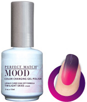 LeChat Mood Perfect Match Color Changing Gel Polish, MPMG24, Twilight Skies, 0.5oz KK0823 BB