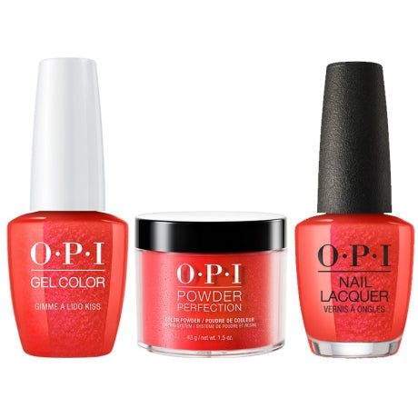 OPI 3in1, DGLV30, Gimmer A Lido Kiss, 1.5oz
