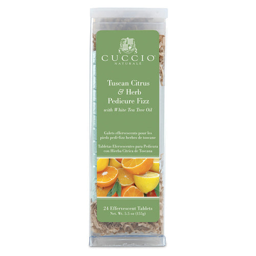 Cuccio Pedicure Fizz, Tuscan Citrus and Herb, 24 tablets, 3156