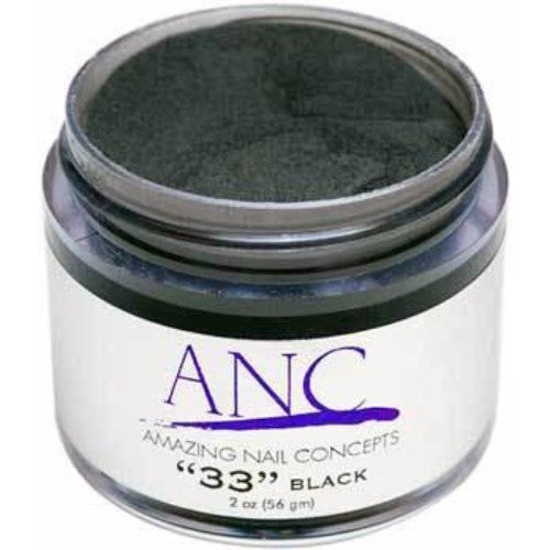 ANC Dipping Powder, 2OP033, Black, 2oz, 80500 KK