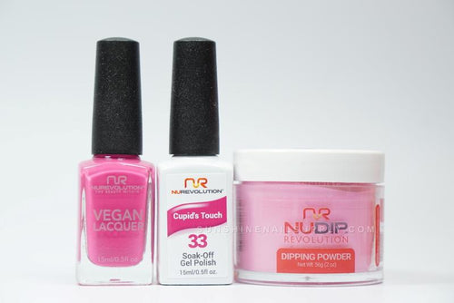 NuRevolution 3in1 Dipping Powder + Gel Polish + Nail Lacquer, 2oz, Cupid's Touch KK