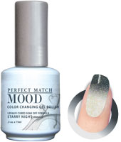 LeChat Mood Perfect Match Color Changing Gel Polish, MPMG35, Starry Night, 0.5oz KK0823 BB