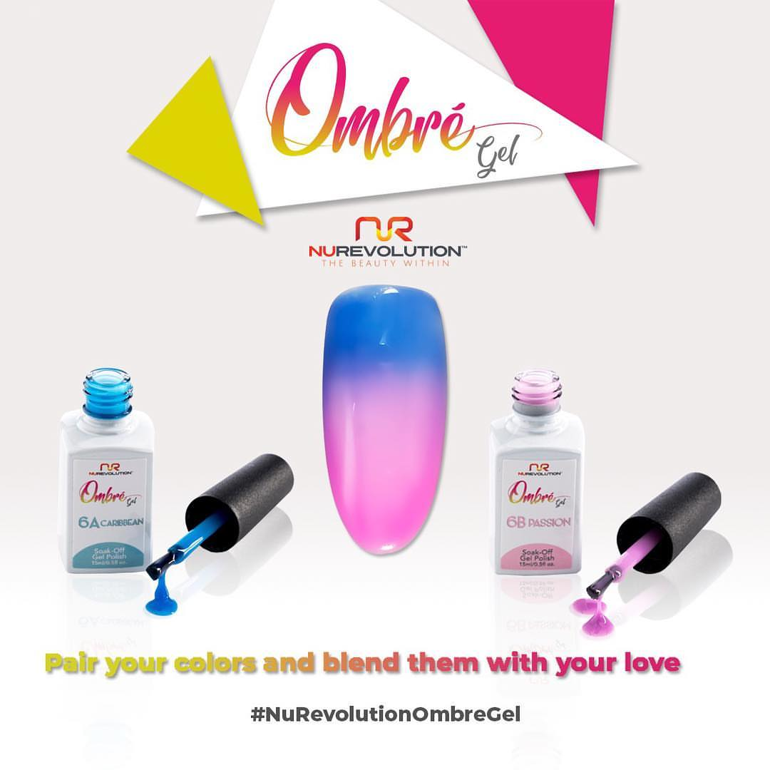 NuRevolution Ombre Gel Collection, Full line of 36 colors ( from OB01A to OB22A)