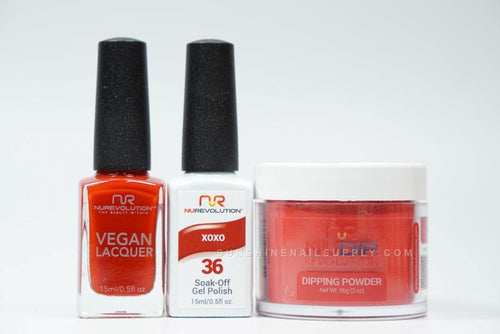 NuRevolution 3in1 Dipping Powder + Gel Polish + Nail Lacquer, 2oz, XoXo KK