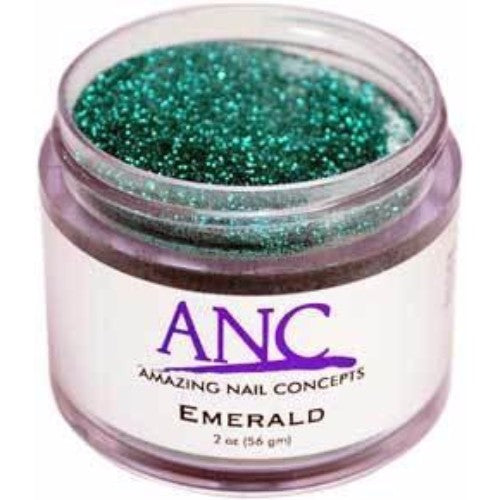 ANC Dipping Powder, 2OP036, Emerald Glitter, 2oz, 600036 KK