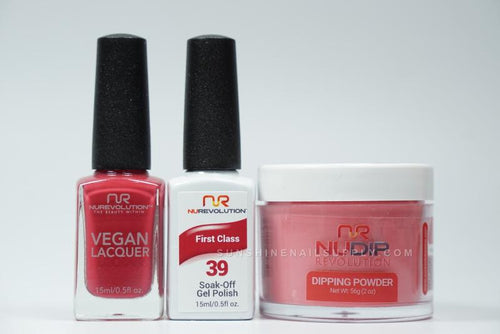 NuRevolution 3in1 Dipping Powder + Gel Polish + Nail Lacquer, 2oz, First Class KK