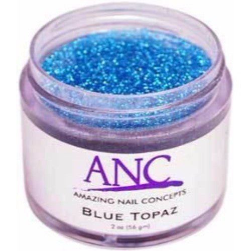 ANC Dipping Powder, 2OP039, Blue Topaz Glitter, 2oz, 805086 KK