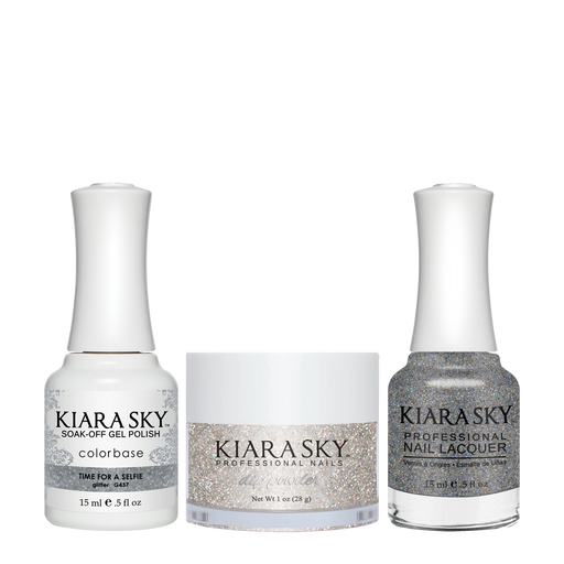 Kiara Sky 3in1 Dipping Powder + Gel Polish + Nail Lacquer, DGL 437, Time For A Selfie