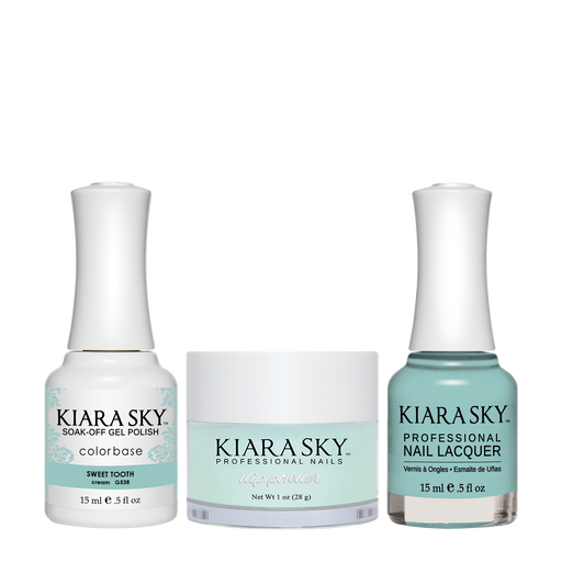Kiara Sky 3in1 Dipping Powder + Gel Polish + Nail Lacquer, DGL 538, Sweet Tooth