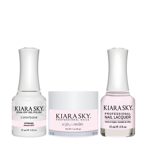 Kiara Sky 3in1 Dipping Powder + Gel Polish + Nail Lacquer, DGL 579, Hypnotizing