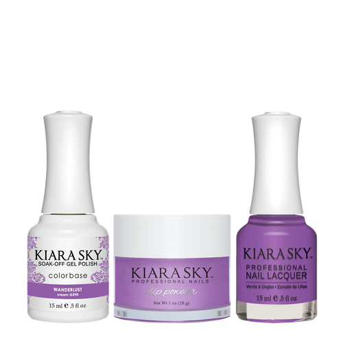 Kiara Sky 3in1 Dipping Powder + Gel Polish + Nail Lacquer, Road Trip Collection, DGL 590, Wanderlust