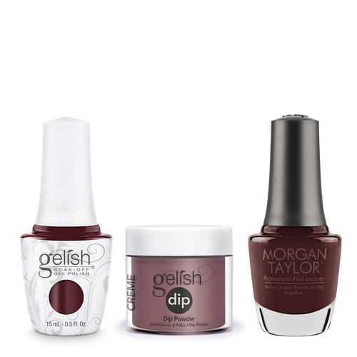 Gelish 3in1 Dipping Powder + Gel Polish + Nail Lacquer, A Little Naughty, 191