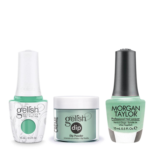 Gelish 3in1 Dipping Powder + Gel Polish + Nail Lacquer, A Mint Of Spring, 890