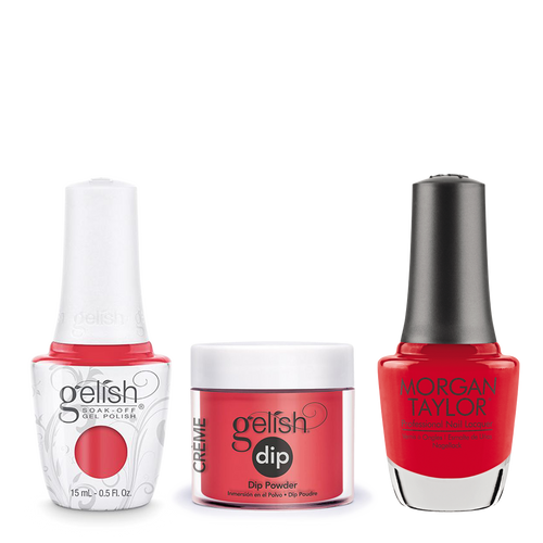 Gelish 3in1 Dipping Powder + Gel Polish + Nail Lacquer, A Petal For Your Thoughts, 886