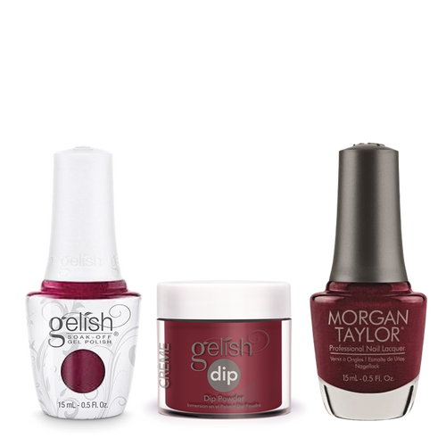 Gelish 3in1 Dipping Powder + Gel Polish + Nail Lacquer, A Tale Of Two Nails, 260
